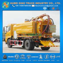 Combined Vacuum Suction and Sewer Jetting Truck