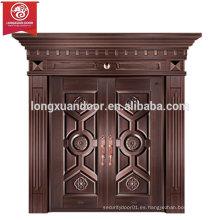 Puertas de entrada personalizadas, puerta de bronce oscilante