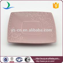 manufacturer ceramic decoration square plates in china