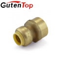 LB-GutenTop Hot Sales High quality lead free copper cUPC brass& plastic push in fit connector pipe water plumbing fitting