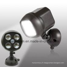 4 lumières de sonde de mouvement d'urgence de LED pour la pièce de Babys de chambre à coucher