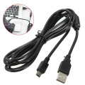 1.8m USB Power Charger Wire Charging Cable Cord For Sony For Playstation 3 For PS3 Controller Accessories Black