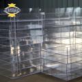 JINBAO usine personnalisée boîte de chaussure acrylique claire boîte carrée