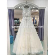 Wedding dress 2017 new heavy industry Dingzhuang luxury large pendants retro sexy wedding dress LJ-10020