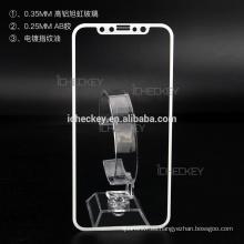 En stock protector de pantalla de cristal templado, protector de pantalla líquido nano anti huella dactilar 9h 0.33mm para iPhone X / 8 / 8plus