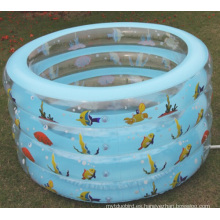 Nueva piscina de agua redonda inflable para bebés de 4 capas