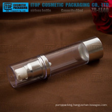 ZB-LE40 40ml cylinder round aluminium and plastic combined 40ml cosmetics silver airless bottle