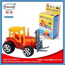 14cm DIY Block Pull Back Engineering Truck Toy