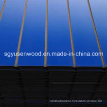 Slatwall Melamine MDF Panel with Aluminum Bar for Display