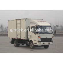 Sinotruk HOWO brand 4X2 drive van truck for 3-18 cubic meter