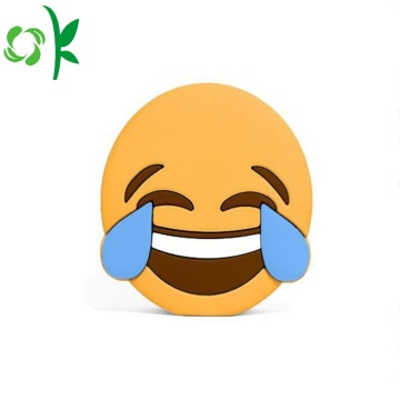 Rolig gullig Emoji Silikon Power Bank Batteri Väska
