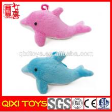 Chaveiro de golfinho de pelúcia recheado de golfinho de pelúcia de varejo