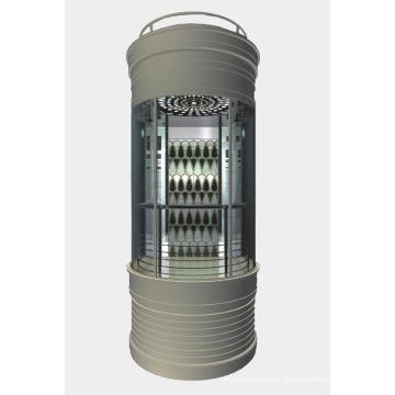 Ascenseur d'observation avec type rond