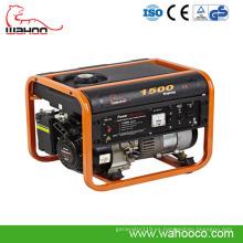 Generador portátil de la gasolina del poder 1kw1.5kw, generador casero con el CE (WK1500)