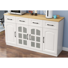 Wooden Display Storage Cabinets with Glass