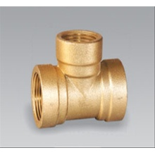 Brass pipe fitting brass Female Tee