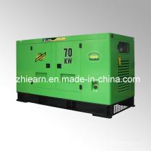 """Grupo de generadores diesel refrigerado por agua Tipo silencioso """"Hi-Earns"""" (GF2-70KW)"""
