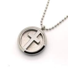 Fashion Air Conditioner Locket Oil Essential Cross Diffuser Necklace