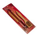 Pinças ajustadas do BBQ 2pcs bambu e escova de limpeza