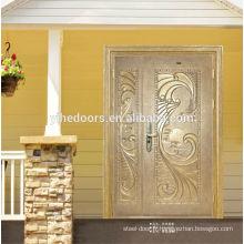 Porte en acier inoxydable double porte extérieure