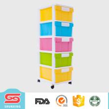 5 capas de cajón de almacenamiento de plástico divisor muebles de gabinete para la venta