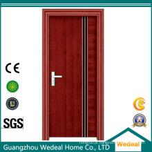 Porta nivelada prefinished / laminada MDF do folheado da madeira de carvalho vermelho / quarto nivelado laminado