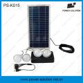 8W off Grid Solarenergiesystem mit 4 LED Birnen