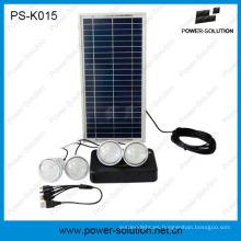 Kits de iluminación de energía solar de 8W DC con cargador móvil