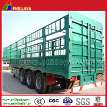 Remorque semi-utilitaire de pieu / clôture pour le transport de cargaison