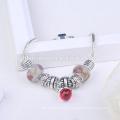 Pulsera del encanto de la joyería del OEM, pulsera del oro del color 24k oro, pulsera de la aleación de cobre color de rosa para las mujeres