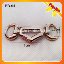 BB04 Fashion shoe decoration gold chain buckle for shoe belt