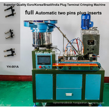 FULLY AUTOMATICLLY THAILAND PLUG INSERTS CRIMPING MACHINES TWO PINS THREE PINS