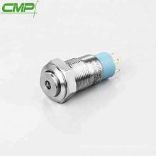Interruptor de luz de botón pequeño antivandalismo de 12 mm de acero inoxidable CMP