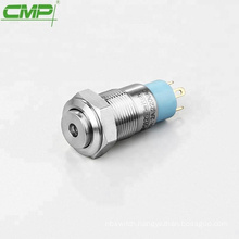 CMP metal Stainless steel anti-vandal 12mm small button light switch