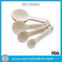 Colher de chá de cerâmica cerâmica vitrificada bonito