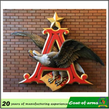 a Eagle Star Custom Design Emblems Attach on Wall