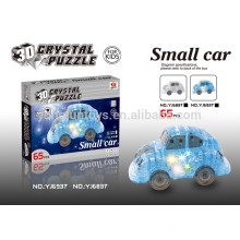 DIY crystal 3D puzzle car with music 65PCS