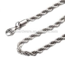 Großhandels populäre Qualitäts-Metall-Edelstahl-Seil-Kettenhalskette