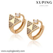 92699 xuping 18k plaqué or bijoux femmes fantaisie boucle d'oreille pour les cadeaux de noël
