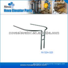 Componentes / peças para elevadores personalizados, Corrimão de elevador panorâmico em aço inoxidável