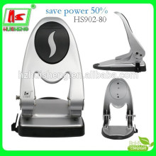Heavy duty two hole powersave metal paper punch HS902-80