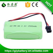 Exportação do OEM da bateria de BT-1007 1500mah NI-MH AA 2.4V sobre o preço wholsale do mundo