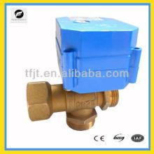 3-Wege-Motor-Kugelhahn für Wasserbauprojekt, Haus- / Trinkwasser, Bewässerungssystem