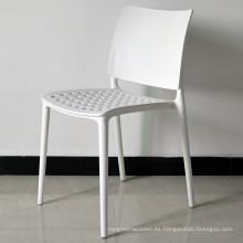 Al aire libre restaurante fuerte apilable silla de plástico blanco (sp-uc036)