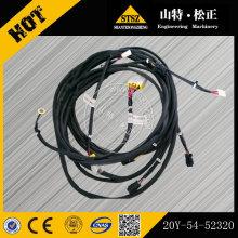 A máquina escavadora parte o chicote de fios 20Y-54-52320 do fio PC400-7