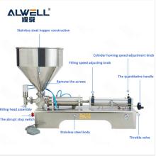 Semi Automatic Oil Juice Liquid Filling Machine Horizontal Pneumatic Piston Manual Alcohol Shampoo Filling Machine