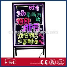Eficiencia energética led tablero de escritura iluminada con cuerpo fuerte