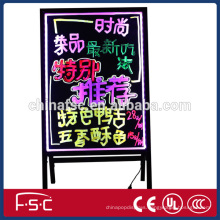 Information fluorescent board led writing board with brilliant color pens