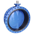 Concentric Flanged Vulcanized Butterfly Valve with Bare Shaft
