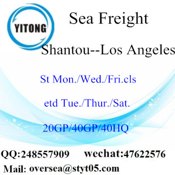 Expédition de fret maritime du port de Shantou à Los Angeles